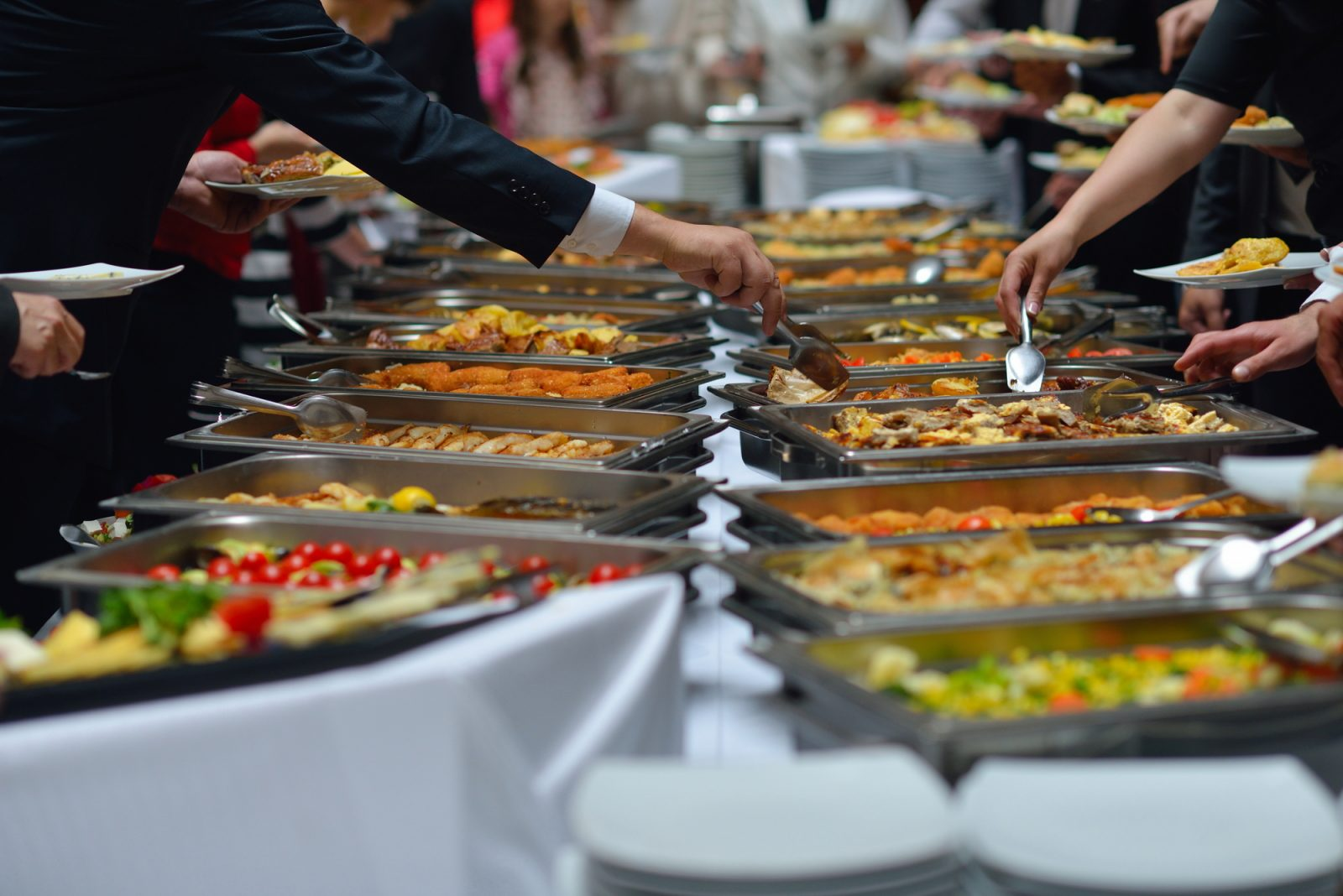 catering at a networking event
