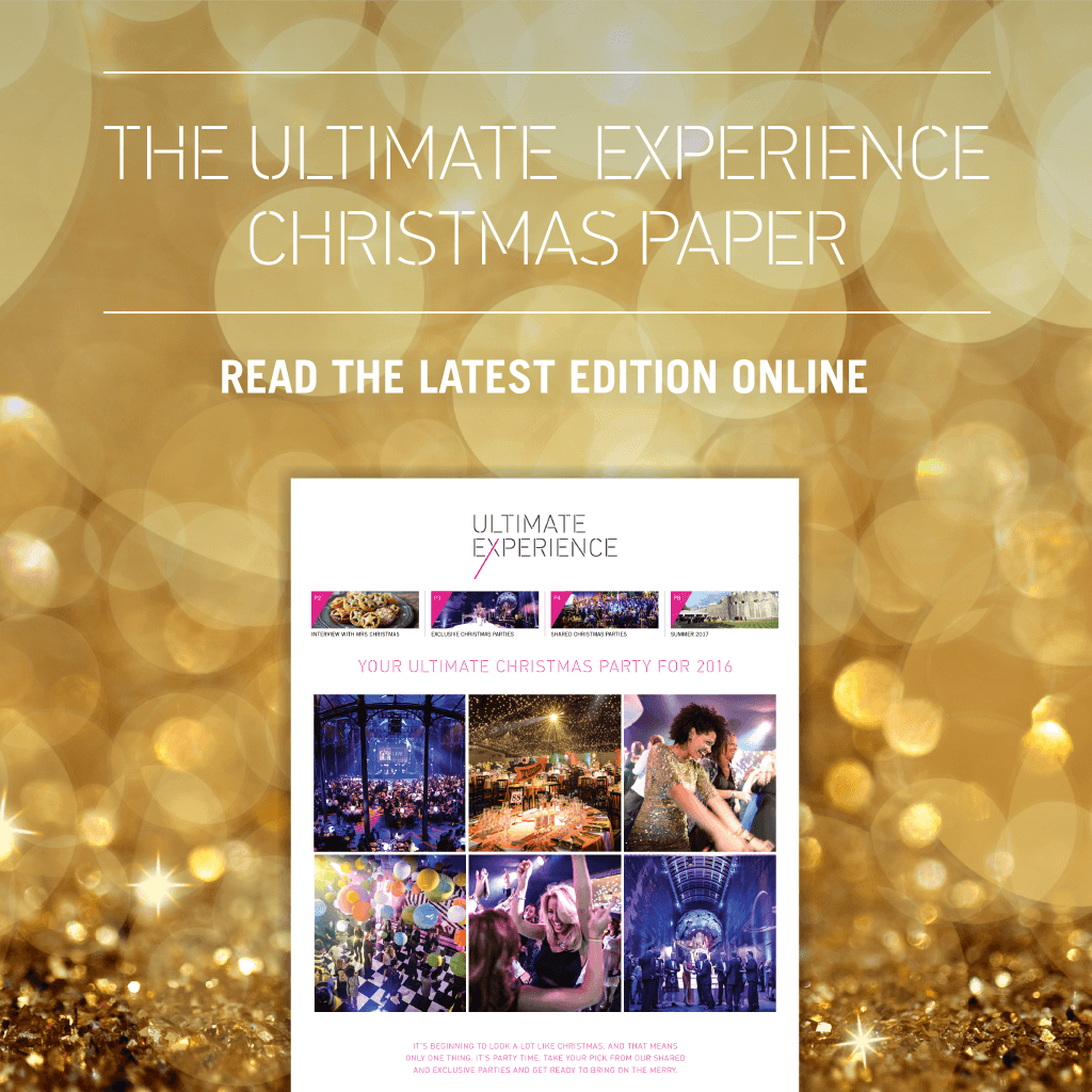 Download the Ultimate Experience Christmas party paper