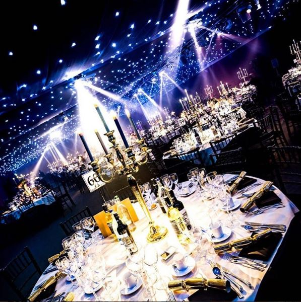 A spectacular-looking venue, the one and only Pavilion at the Tower of London