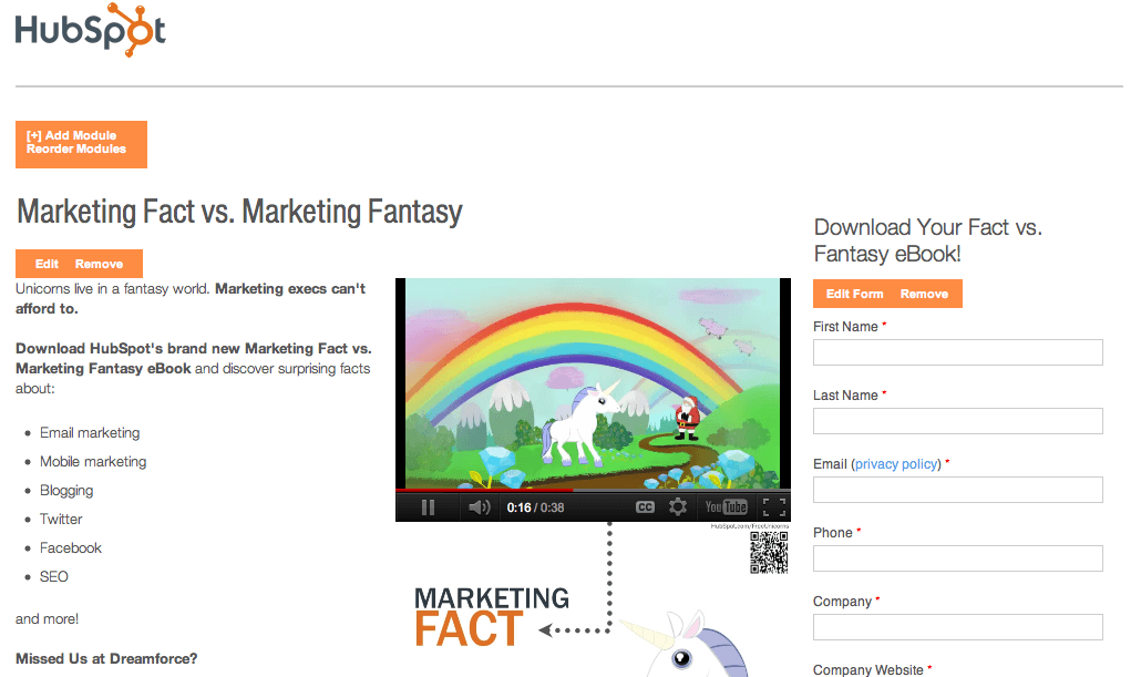 hubspot marketing screenshot