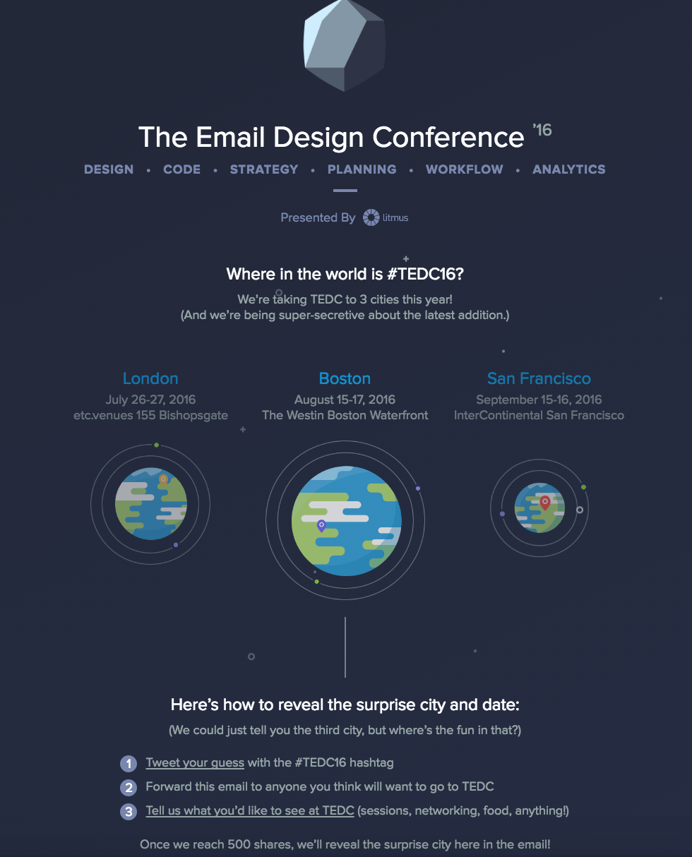 email design conference brochure