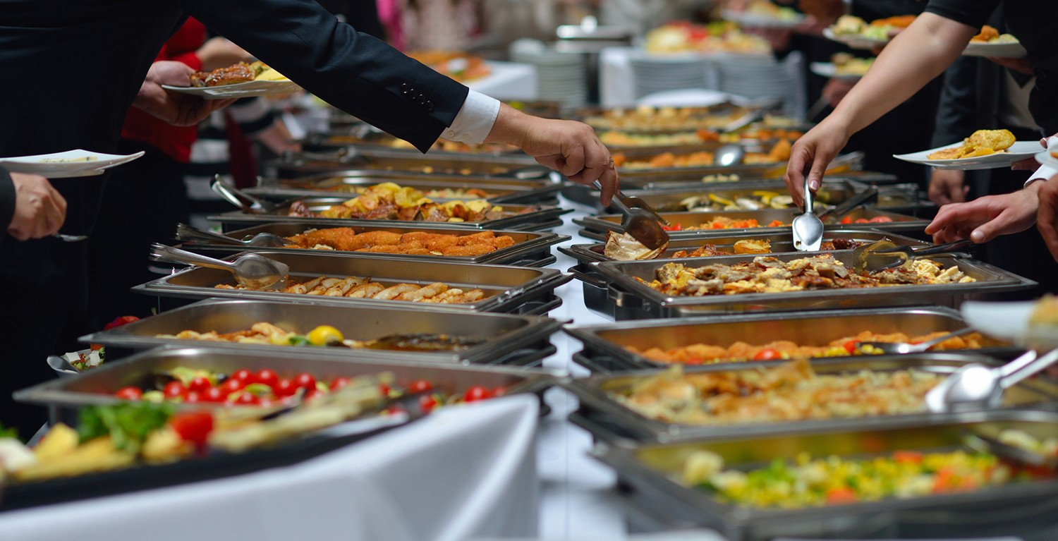 buffet catering at event