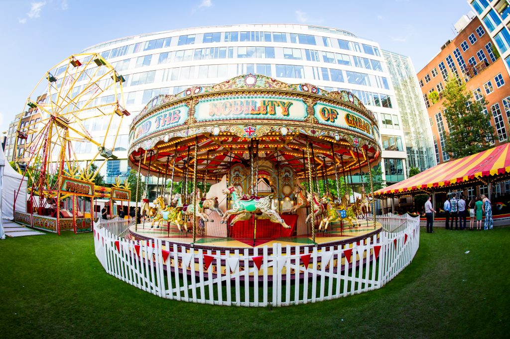 Have a funfair at your summer event at the Artillery Garden