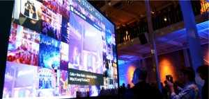 media wall at event