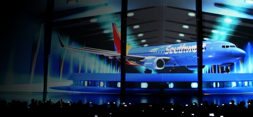 Southwest-Airlines Projection Mapping
