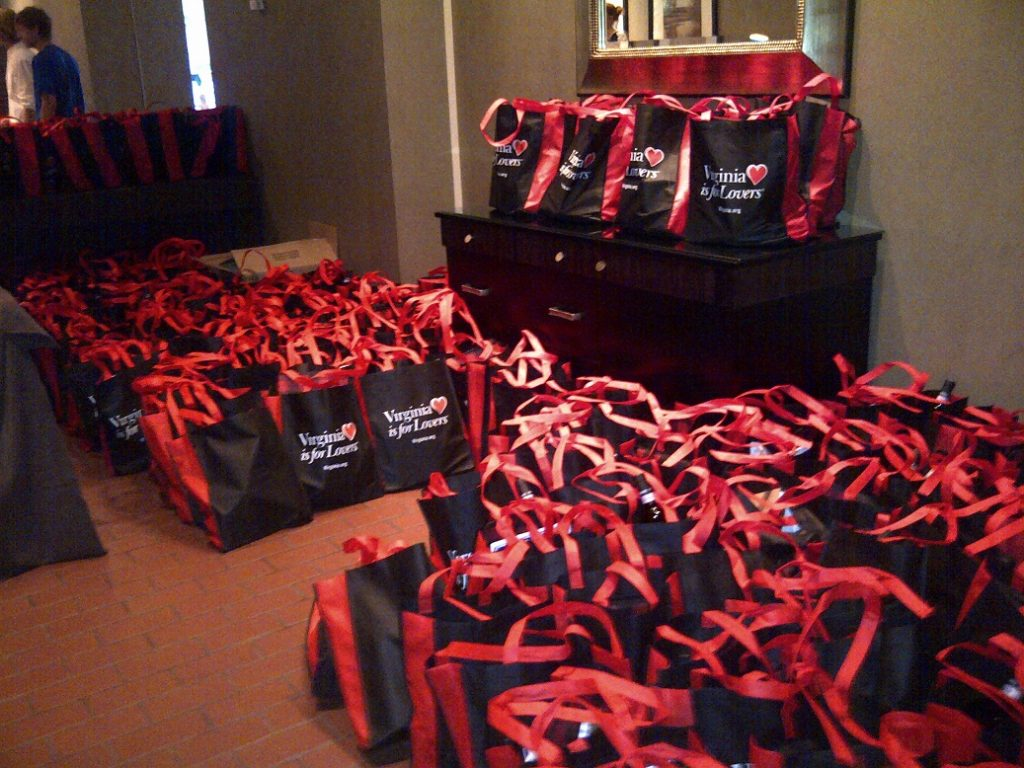 swag bags - conference planning